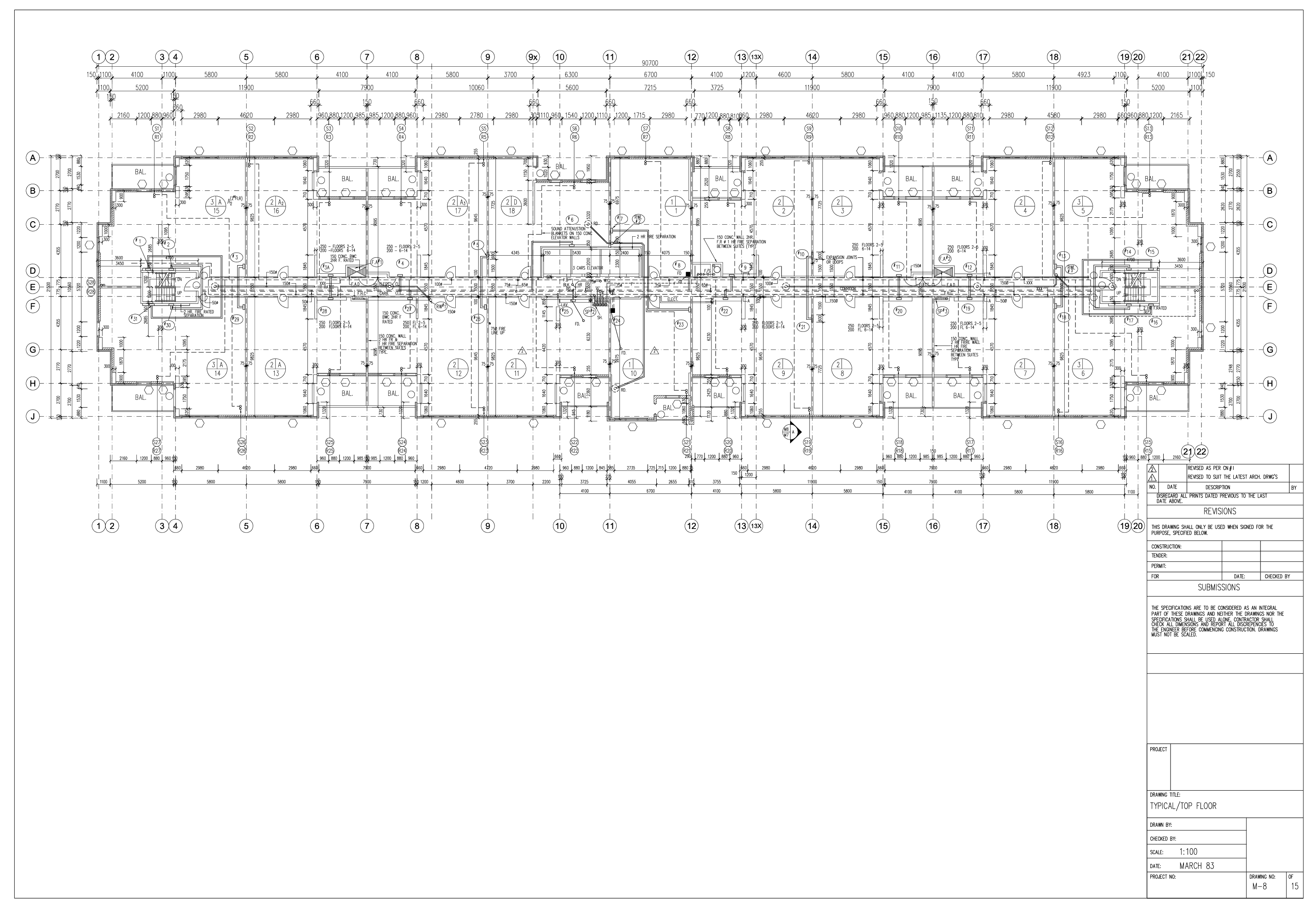 Apartment Building Floor Plan on Grid Layout For Building Construction Line