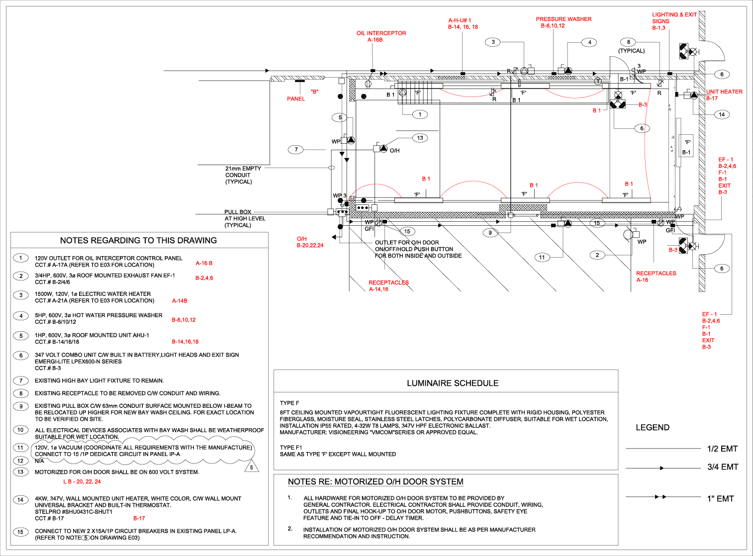Electrical Lighting & Power Layout (AutoCAD)