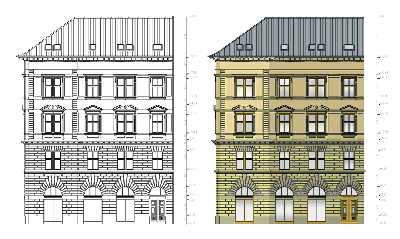 Front Elevation Of Residential Building In Autocad : D autocad front elevation joy studio design gallery