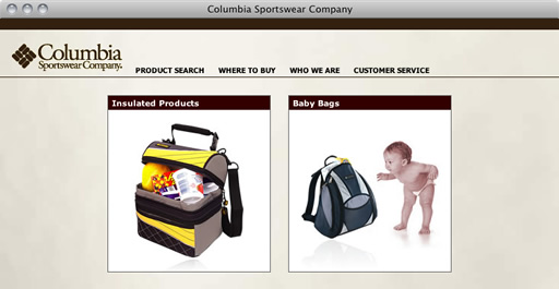 Columbia Sportswear Launch Page