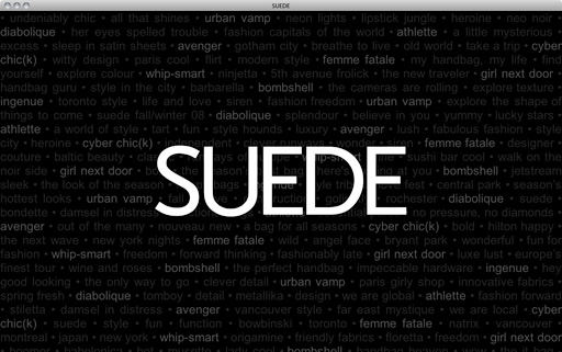 SUEDE Launch Page